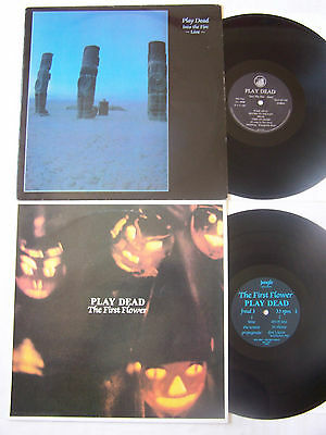 Goth - Play Dead X 2 - Into The Fire ~ Live ~ Clay Records ~ The First Flower Ex