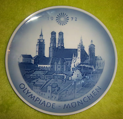 Orig.porcelaine plate    XX.Olympic Games MÜNCHEN 1972 - Special Edt  !!  RARITY