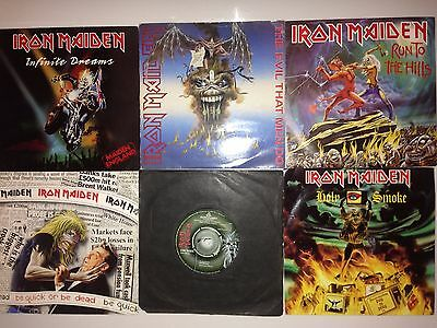 "Iron Maiden Collection of 6 X Original 7"" Singles Job Lot"
