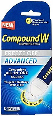 Compound W Freeze Off Advanced Wart Solution 15 Treatments