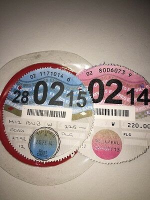Tax Discs 2014 2015 With Holder Great Condition
