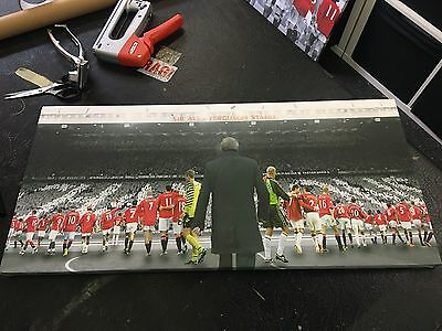 """Manchester United #MUFC the Fergie Years Canvas Print (28""""x13"""")"""