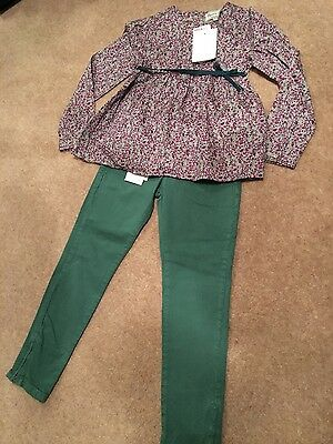 Girl's Mayoral jeans and top outfit age 7 NEW