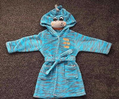 Gorgeous Baby Boy's Dressing Gown / House Coat - *born To Be Wild* - 12-18 Monts