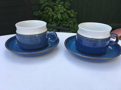 Denby Langley Chatsworth Large Collection-- 2 X Tea Cups & Saucers , Lot 16