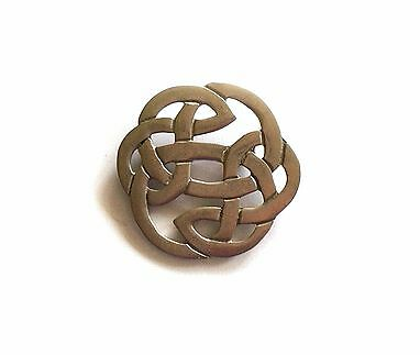 Hand Crafted Pewter Celtic Brooch.