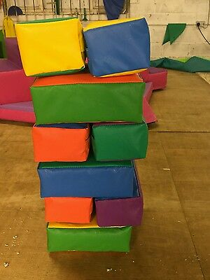 New Soft Play Brick Set x 12  ideal Hire, Home or Nursery Quality Foam/ PVC