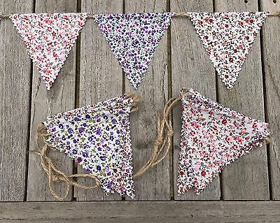 Bunting - Ditsy Floral Vintage Shabby Chic Rustic Cottage Excellent Quality 6ft