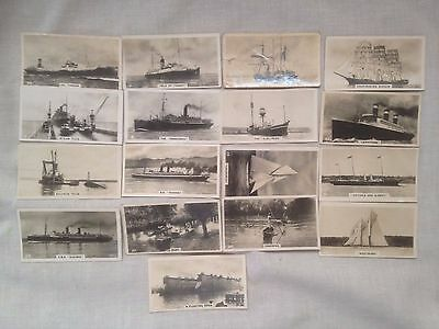 ...WILLS...SHIPS AND SHIPPING....photo cards  17/50..new zealand issue 1928