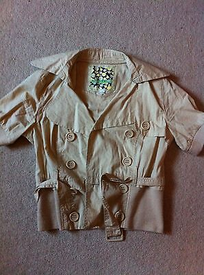 New look age 14-15 (fits size 8) brown/beige lightweight summer jacket