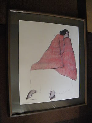 R C Gorman 1979 Rare Original Lithograph with Custom Frame Signed