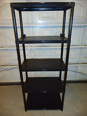 5 TIER PLASTIC SHELVING UNIT STORAGE RACKING SHELVES - Collection Only Please