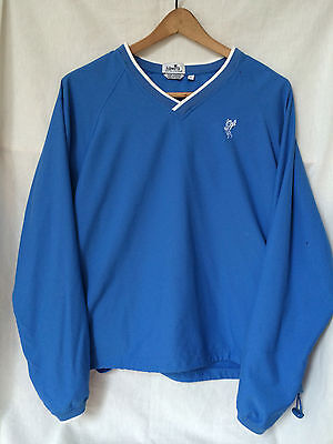 Ashworth Golf Weather Systems Pull Over Jacket Blue Water Wind Women's Large L
