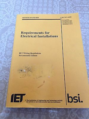 BS7671 Amd3 2015 17th edition Wiring Regulations BS 7671 C&G 2382 Exam Book