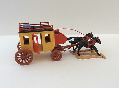 Timpo Wells Fargo Stagecoach Cowboys Indians Horses For Spares ?