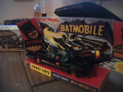 corgi 267 batmobile 1960's blue windscreen