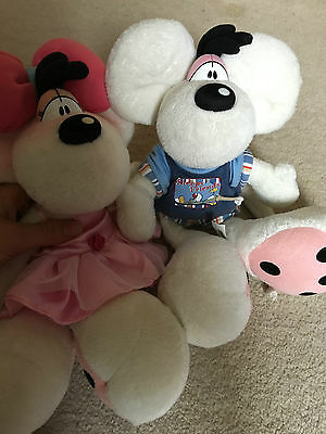 Excellent condition collectable diddl diddlina teddies x2