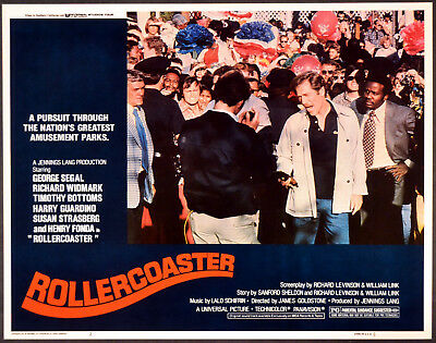 ROLLERCOASTER 1977 Timothy Bottoms, George Segal LOBBY CARD #2