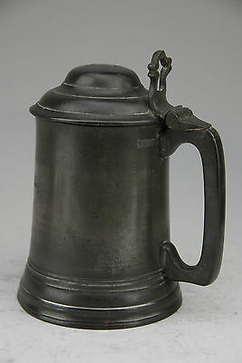Fine Antique Pewter Rowing Trophy Tankard Durham Regatta 1874 Ruby Starburst Bas