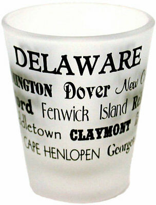 Delaware  souvenirs Shot Glass / Frosted - Cities Delaware