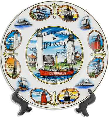 """Delaware  souvenirs  Plate / 7"""" - Lighthouses of Delaware"""