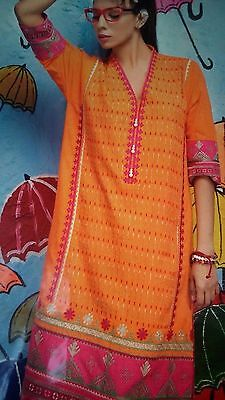KHAADI KURTA  ORIGINAL NEW FULL EmbroiderY Polyester Viscose Material