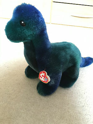 TY Beanie babies large Beanie buddies dinosaur trio Bronty WITH TAG collectors