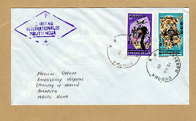 Biafra Nigeria cover with Caritas Vatican charity cachet