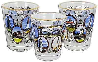 New Jersey  souvenirs  Shot Glass - Lighthouses of New Jersey