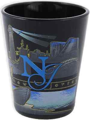 New Jersey  souvenirs Shot Glass / Black - New Jersey Graphic
