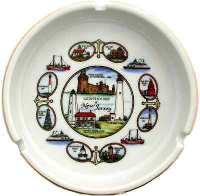 """New Jersey  souvenirs Ashtray / 5"""" - Lighthouses of New Jersey"""