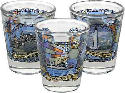 New Jersey  souvenirs  Shot Glass / Optic - Cape May Stained Glass