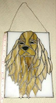 Tan English Springer Spaniel Cocker SPANIEL LARGE STAINED GLASS WINDOW PANEL
