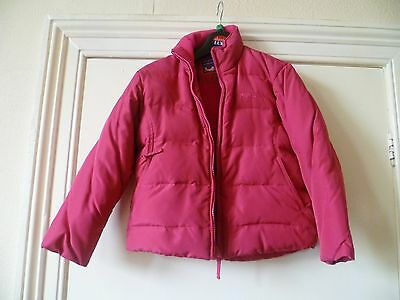 Trespass Hot Pink Kids Girls` Down Filled Jacket/coat Age5/6,excellent Condition