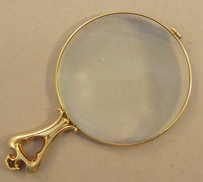 Antique 14k Yellow Gold Magnifying Glass