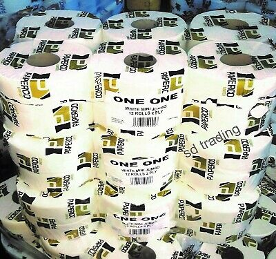 12 x Mini Jumbo 2 Ply Pure Soft Toilet Tissue Roll Wholesale Buy 2 Get 1 Free...