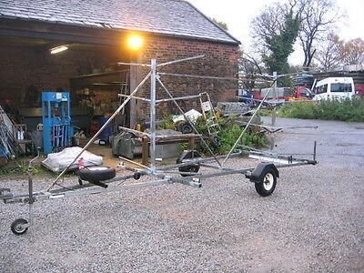 """Fully Galvanised Used """" Houghton """"  Canoe Trailer Good / Top Quality  Ex Council"""