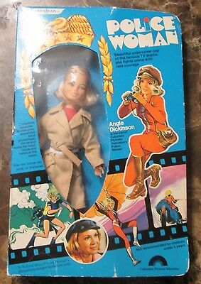 """Police Woman Horsman 9"""" Action Figure Box Angie Dickinson"""