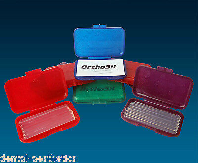 Orthosil Silicone Wax ~ Relief for Orthodontic Braces 1 or 4 Boxes of 6 Strips
