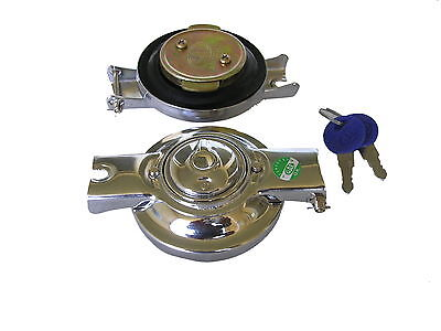 Vespa Petrol cap Chrome lockable Vespa VNB Sprint GS GL GTR TS PX (V-162 )