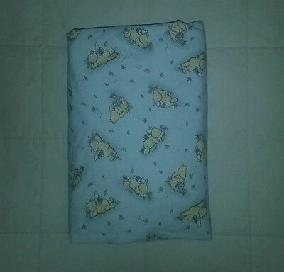 """Used~CLASSIC POOH """"Best Friends"""" Crib/Toddler Fitted SHEET Green/Multi-Color"""