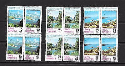 Turkey 1983 Coastal Protection Block of Four MNH **