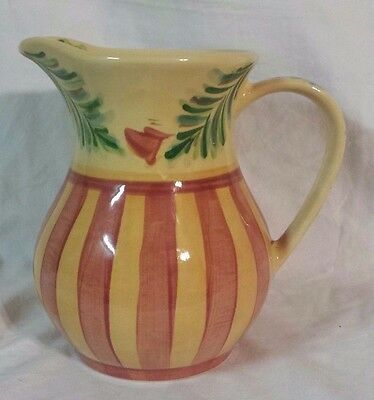Southern Living Gail Pittman Siena Pitcher, Autumn, Hand Painted