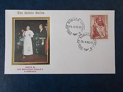 1980 Pope's Visit to Subiaco Golden Series FDC from Vatican
