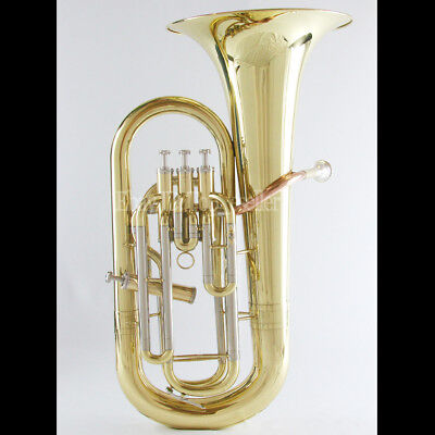 Professional Gold Lacquer JINBAO Euphonium 3+1 Valve With Case Mouthpiece
