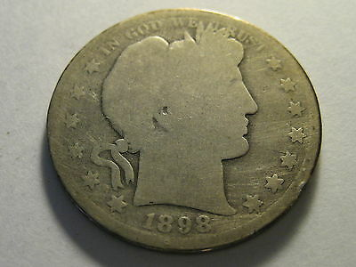 1898-S Barber Half Dollar Lots Of Scratches