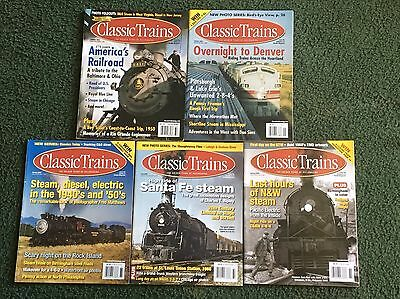 2003 2004 2006 2007 2008 Classic Trains Magazine, Lot of 5 issues