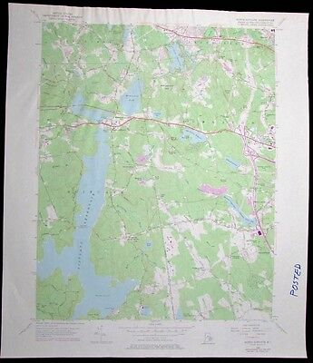 North Scituate Rhode Island Scituate Reservoir vintage 1976 old USGS Topo chart