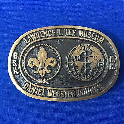 Boy Scout Max Silber Belt Buckle Daniel Webster Council Lawrence L. Lee Museum