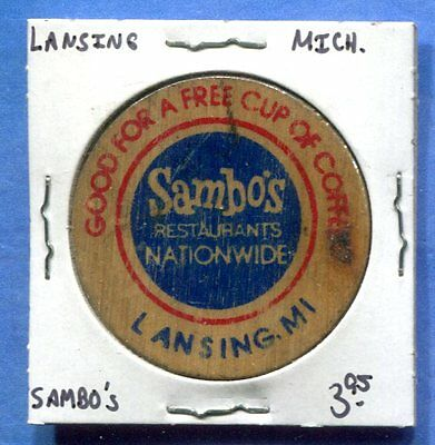 Lansing Michigan - Samb's Wooden Nickel